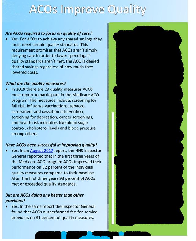 ACOs Improving Quality